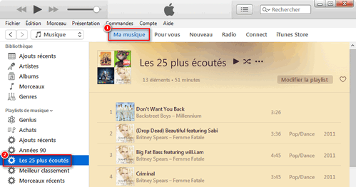 Télécharger de la musique à partir du catalogue d'Apple Music sur Windows