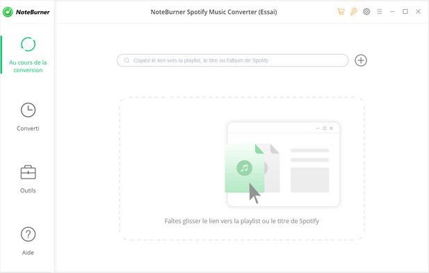 L'interface de NoteBurner Spotify Music Converter pour Windows:
